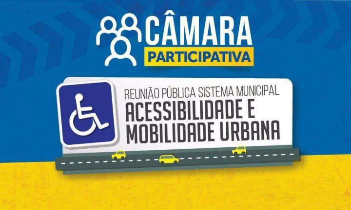 Mobilidade e acessibilidade urbana serão temas de audiência pública