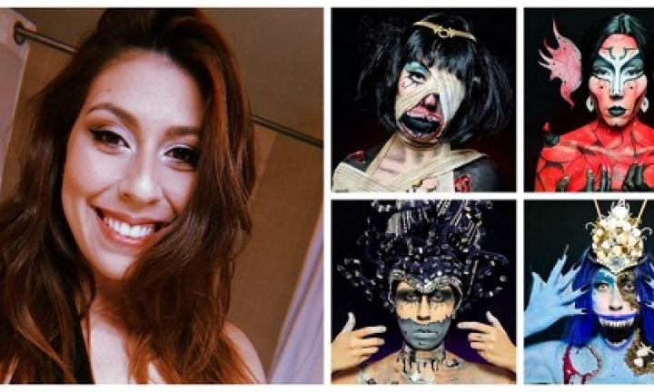 Ex-estudante de Avaré conquista segundo lugar em concurso de maquiagem artística