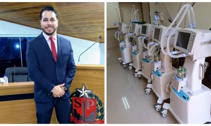 Vereador Léo Ripoli pede a deputado mais 10 respiradores para Avaré