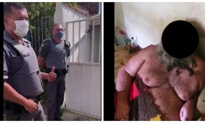 Polícia Militar socorre homem vítima de maus tratos em Avaré