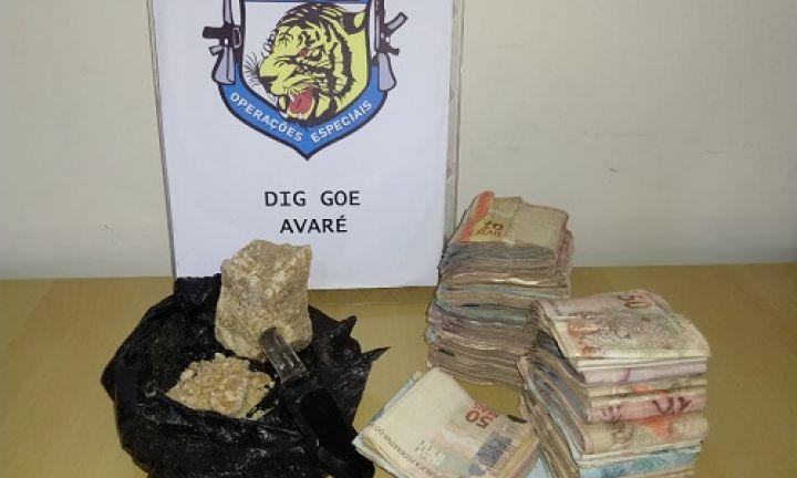 Operação da DIG resulta em prisão e apreensão de crack e R$ 15 mil
