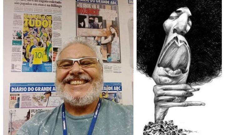 Caricaturista Fernandes é premiado em Festival de Humor de Caratinga