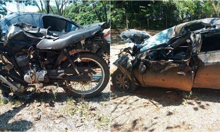 Três pessoas morrem em acidente com carro e moto em Itaí