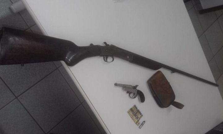 Mecânico é preso por porte e posse ilegal de armas de fogo