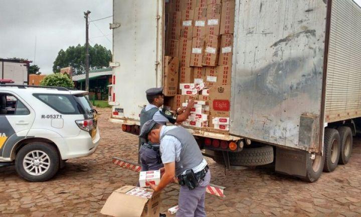 Polícia Rodoviária apreende mais de 14 milhões de cigarros contrabandeados