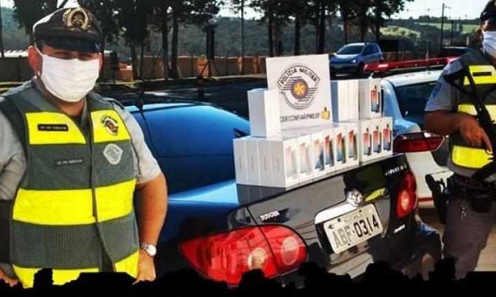 Polícia Rodoviária prende dois homens por contrabando de aparelhos celulares