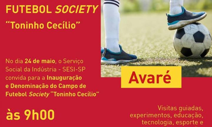 SESI de Avaré vai inaugurar Campo de Futebol Society