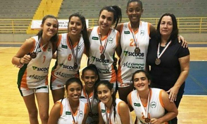Basquete feminino da Unimed é bronze nos Jogos da Juventude