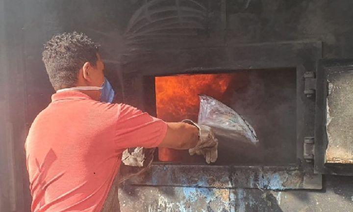 Delegacia de Entorpecentes incinera 140 quilos de drogas em Avaré