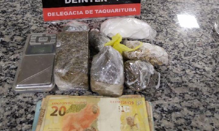 Polícia Civil prende três, encontra 13 quilos de maconha, além de crack e cocaína