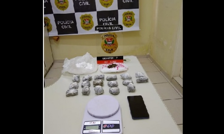 Polícia Civil prende homem no bairro Vera Cruz por tráfico de drogas