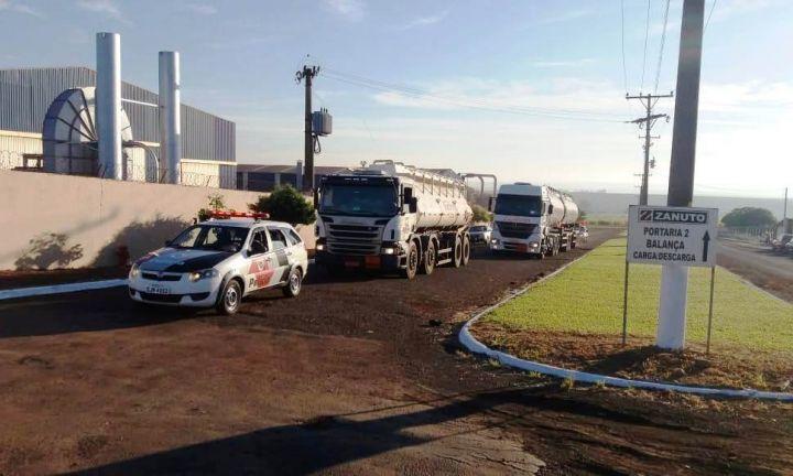 PM garante abastecimento em postos de combustíveis da região