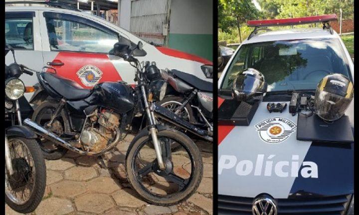 Polícia Militar recupera motos e objetos produtos de furto