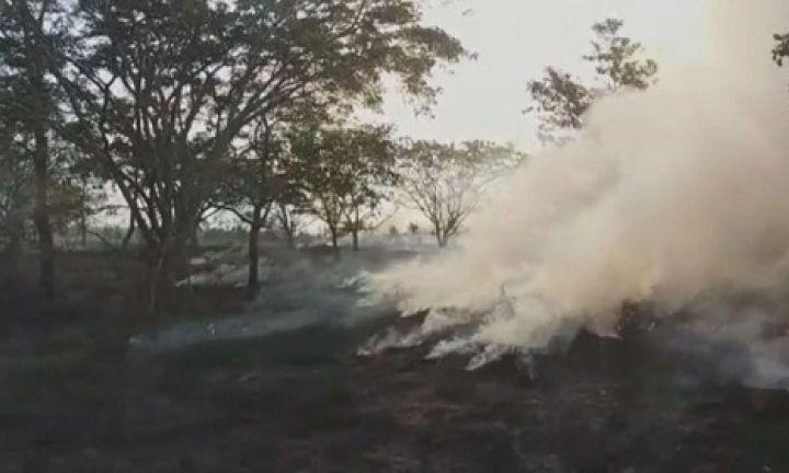 Incêndio atinge área às margens de rodovia em Avaré