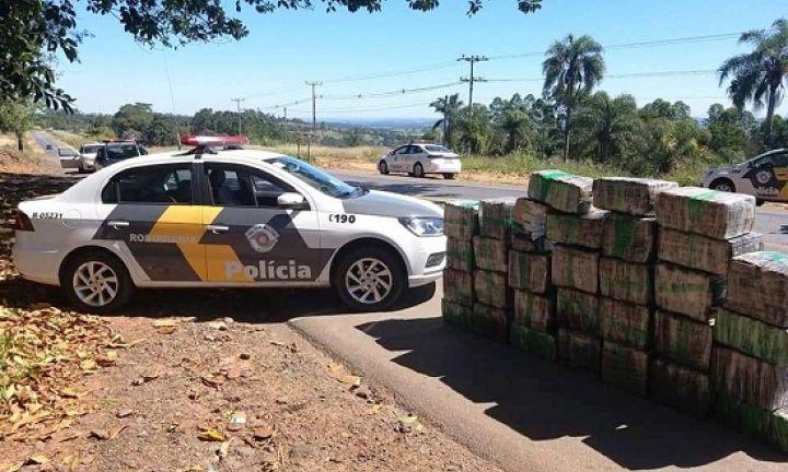 Polícia Rodoviária apreende mais de 550 kg de maconha