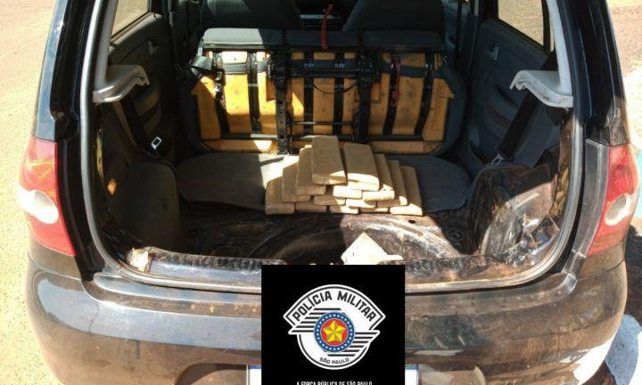 Polícia Militar apreende 15 quilos de maconha em Itaí