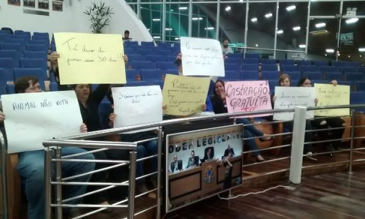 Ativistas protestam pela volta da castração gratuita de animais