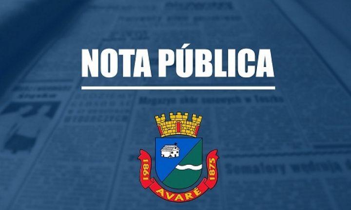 Prefeitura de Avaré suspende aulas e eventos municipais