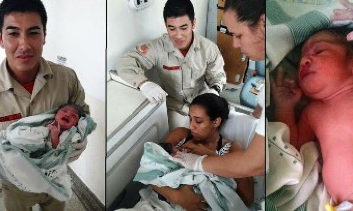 Bebê de quase 3 kg nasce em viatura dos Bombeiros