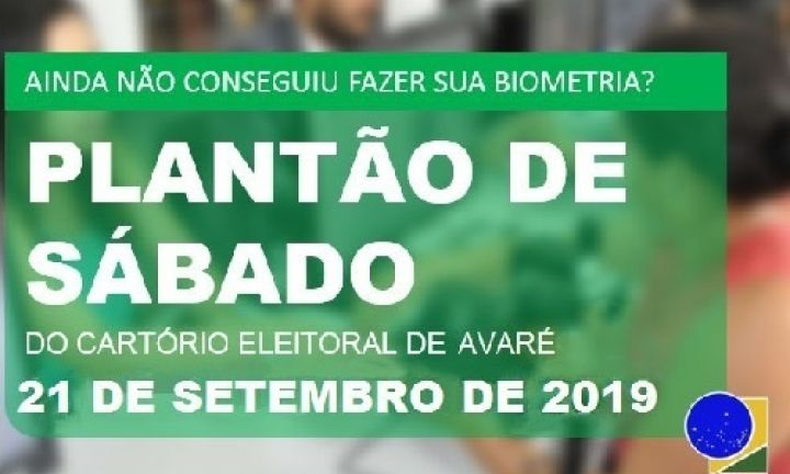 Cartório Eleitoral fará plantão biométrico neste sábado