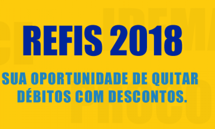 Refis 2018: Prazo de adesão vai até 21 de dezembro