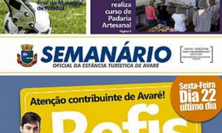 Semanário Oficial passa a circular somente na versão eletrônica