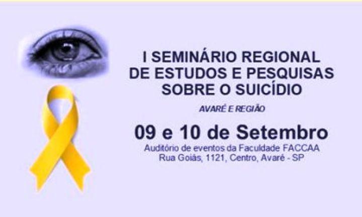 Avaré recebe seminário de pesquisas e estudos sobre o suicídio