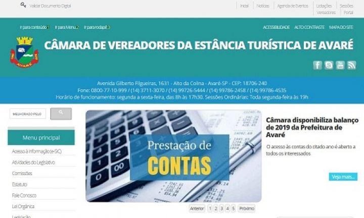 Câmara disponibiliza balanço de 2019 da Prefeitura de Avaré