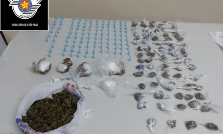 Menor é preso no Largo São João por tráfico de drogas