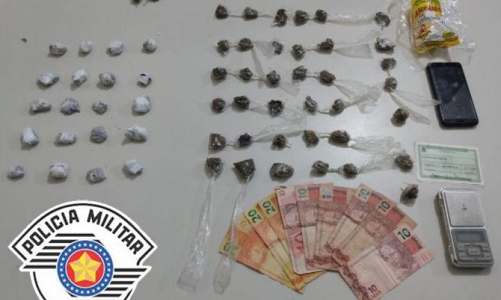 Abordagem para verificar uso de cerol acaba em prisão de traficante