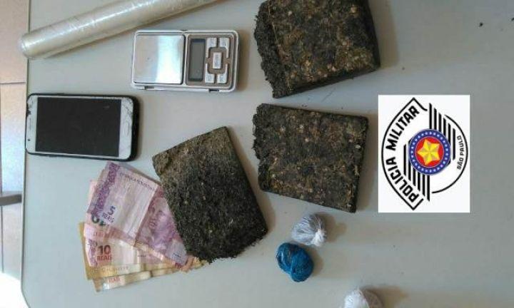Polícia Militar prende três pessoas por tráfico de drogas em Avaré
