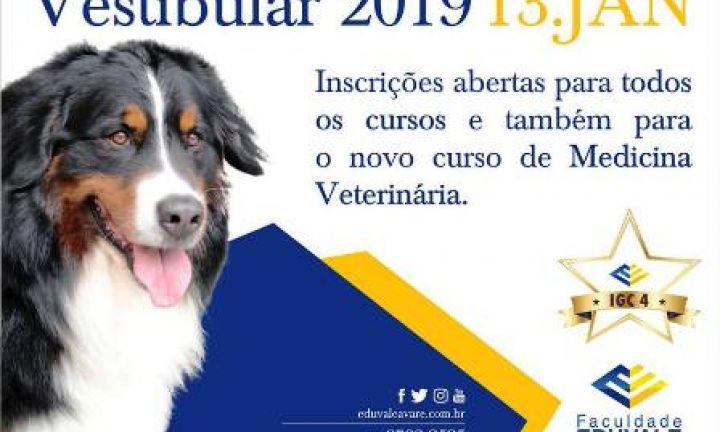 Vestibular para medicina veterinária da Eduvale acontece domingo