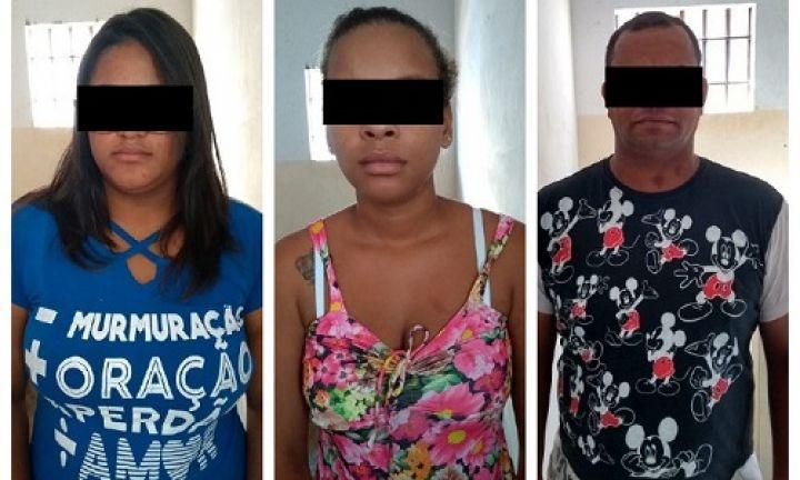 Trio é preso por receptação, tráfico e associação para o tráfico de drogas