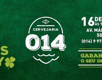 Cervejaria 014 realiza St. Patrick's Day no sábado