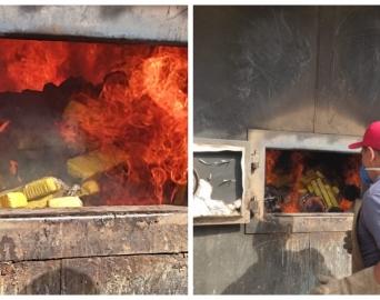 Polícia Civil incinera 102 quilos de drogas apreendidas na Operação Narco