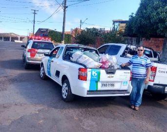 Polícia Militar participa de coleta de agasalhos em Taquarituba