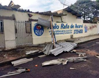 Chuva causou grandes estragos em Avaré