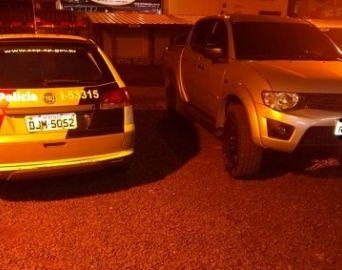 Caminhonete com placas clonadas é apreendida pela polícia