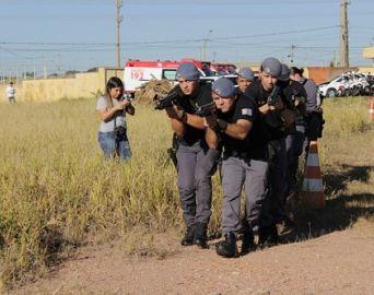 Polícia Militar realiza treinamento em conjunto com o SAMU