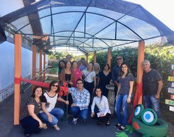 APAE de Cerqueira César ganha jardim sensorial