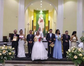 Quatro casais contraem matrimônio na Paróquia de São Benedito