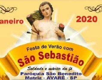 Festa de Verão com São Sebastião acontece de 10 a 20 de janeiro
