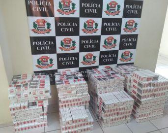 DIG de Avaré apreende carga de mais de 167 mil maços de cigarro