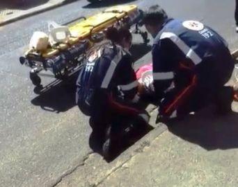 Mulher se fere após ser arrastada por ônibus em Avaré