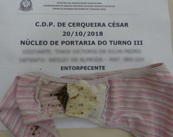 Menor é flagrada tentando entrar com droga no CDP de Cerqueira