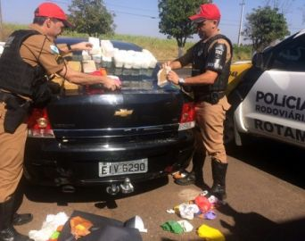 Carro com placas de Avaré é apreendido no PR com cerca de R$ 1 milhão em drogas