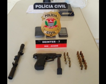 Homem é preso em Avaré por posse ilegal de arma de fogo