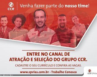 CCR SPVias lança nova plataforma para cadastro de currículos