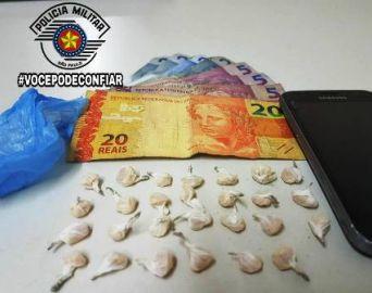 PM prende traficante no bairro Bonsucesso