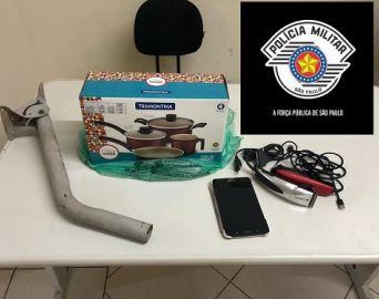 Homem é preso após roubar e ameaçar vítima com barra de ferro em Avaré